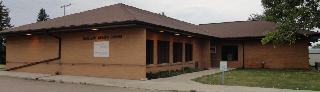 A photo of the Vanguard Health Centre in Vanguard, SK.