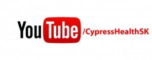 Youtube logo slash cypresshealthsk